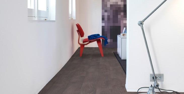 Доска дуба серого старинного (Фото комнаты)