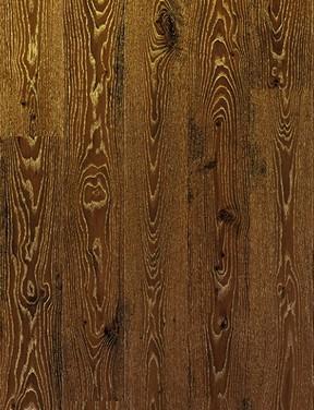 Дуб белый затемнённый золотистый (Фото материала)